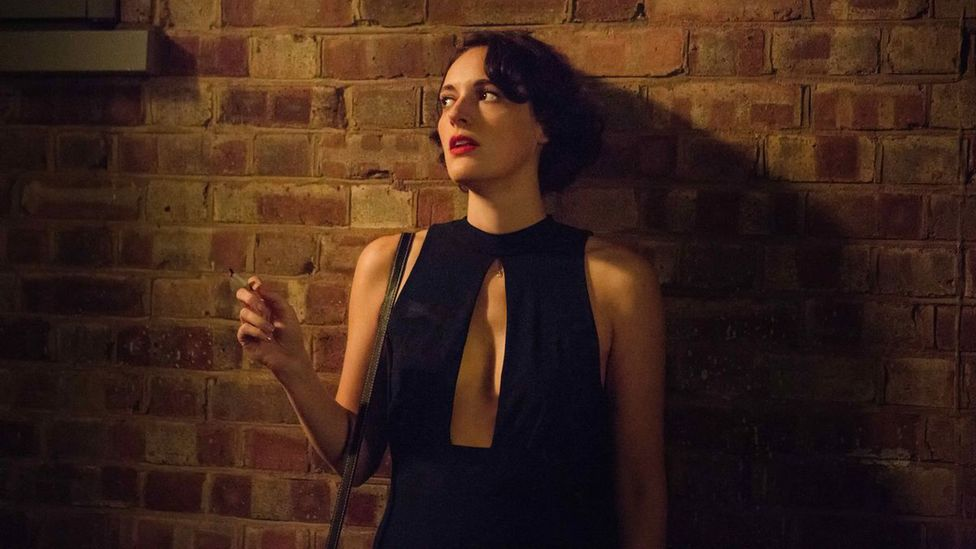 The protagonist of TV's Fleabag, played by Phoebe Waller-Bridge, wore a striking jumpsuit at the start of the second season (Credit: BBC)