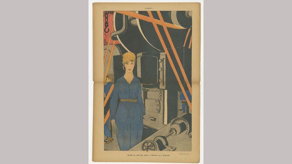 A 1917 lithograph by Paul Iribe is among the exhibits at the Bard Graduate Center exhibition (Credit: Association pour l'Histoire de la Mode)