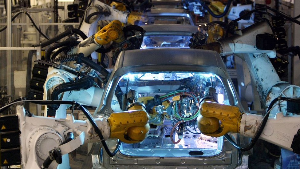 A study published in June by analysis firm Oxford Economics estimated up to 20 million manufacturing jobs globally could be replaced by robots by 2030 (Credit: Getty Images)