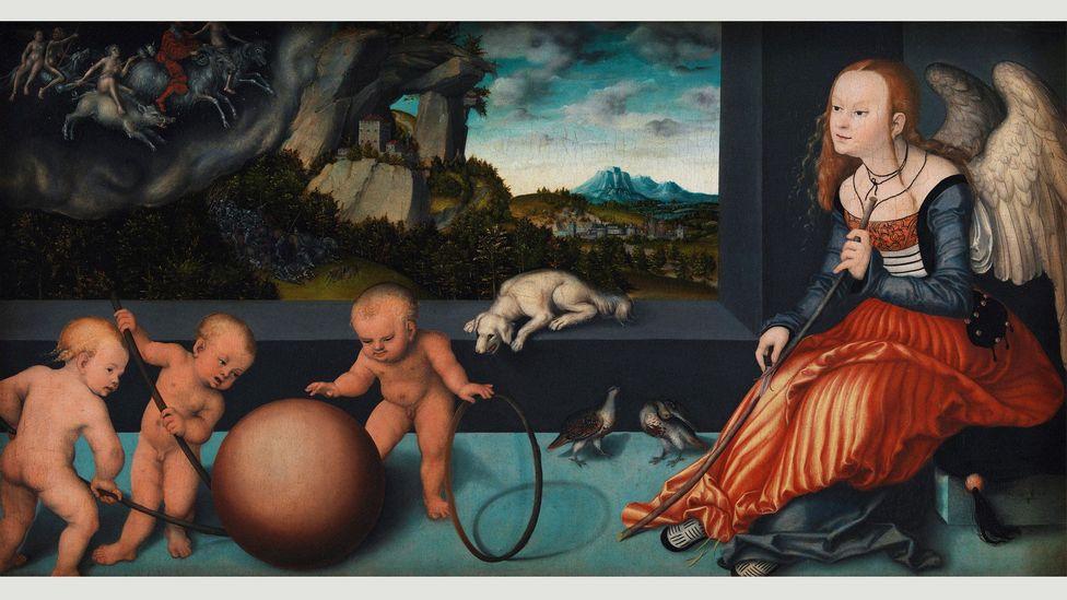 Dürer'in gravüründeki birçok unsur, Lucas Cranach the Elder'ın bir tablosu olan Melancholy'de (1532) yeniden ortaya çıkıyor (Kredi: Alamy)