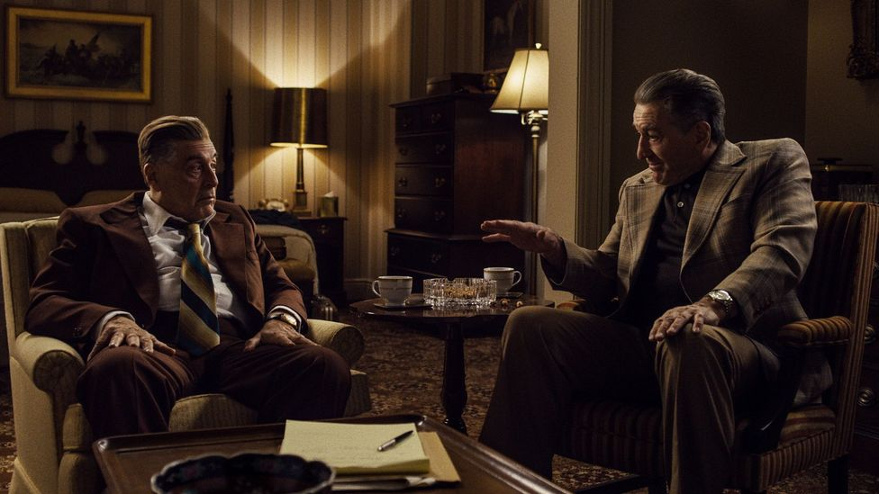 With the ageing Robert De Niro and Al Pacino reunited in The Irishman, the gangster movie is now facing a reckoning (Credit: Netflix)
