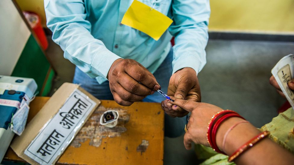 India held the world's largest democratic elections last year but those going into the ballot boxes faced a bewildering number of options (Credit: Getty Images)