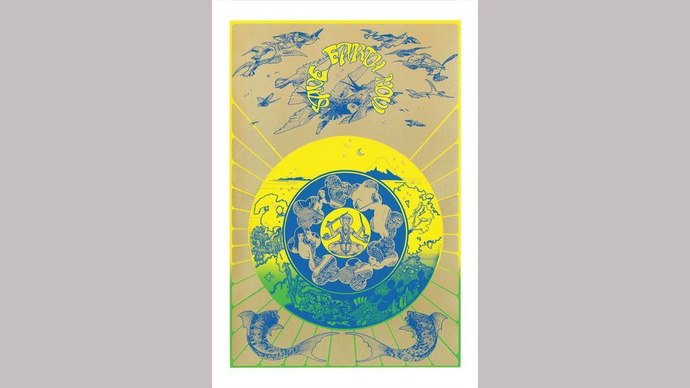 Eastern spiritual influences were evident in the graphic-design duo's work (Credit: Hapshash/ Bamalama Gallery)