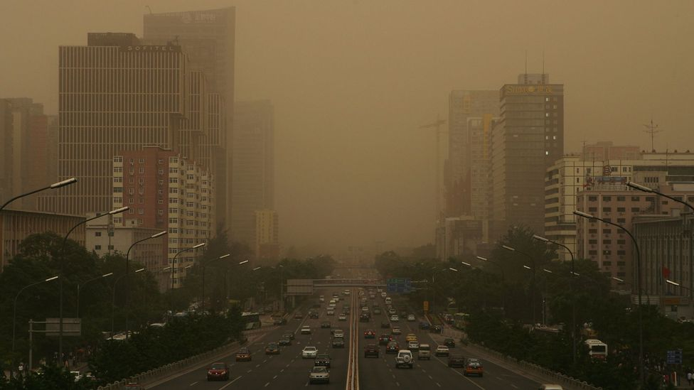 Comparisons have been drawn between Blade Runner's smog-filled cityscape and that of Beijing (Credit: Getty Images)