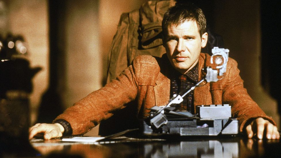 In the film, Deckard (Harrison Ford) performs the Voight-Kampff test – an examination designed to distinguish replicants from humans (Credit: Getty Images)