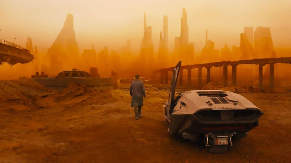 The devastating effects of climate change are covered in both Blade Runner and its sequel Blade Runner 2049 (pictured here) (Credit: Alamy)
