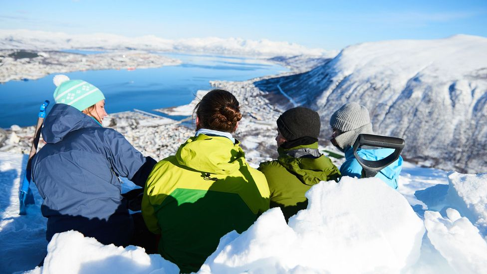 Students in the world's first Nordic urban planning master's programme travel across the region to learn about Nordic models of urban design (Credit: Arctic University of Norway)