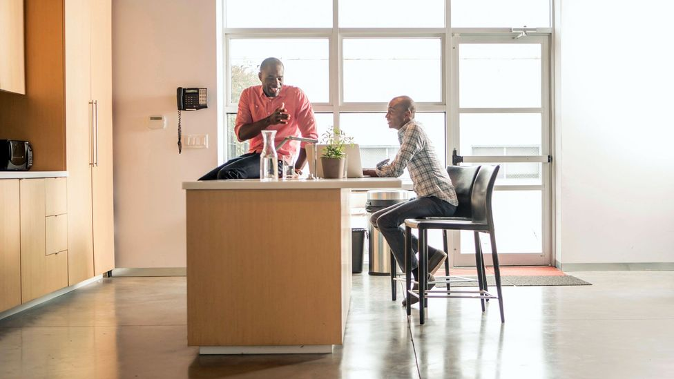 If you run to the office kitchen to decompress with colleagues after a frustrating meeting, you're likely experiencing meeting recovery syndrome (Credit: Alamy)