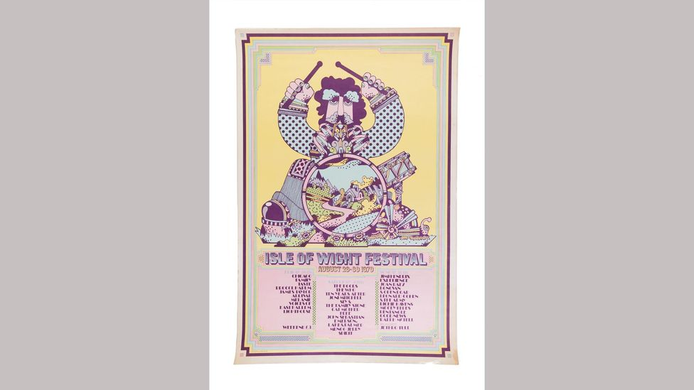The psychedelic poster for the 1970 Isle of Wight Festival (Credit: Bamalama Gallery)
