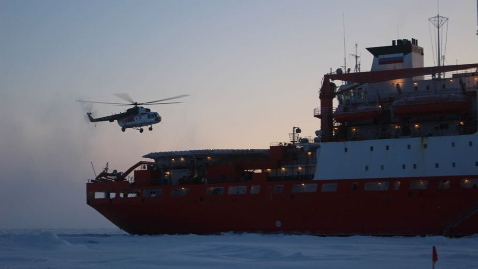 Helicopter flights to deploy data-gathering buoys on the drifting ice are at the mercy of the weather conditions (Credit: Martha Henriques)