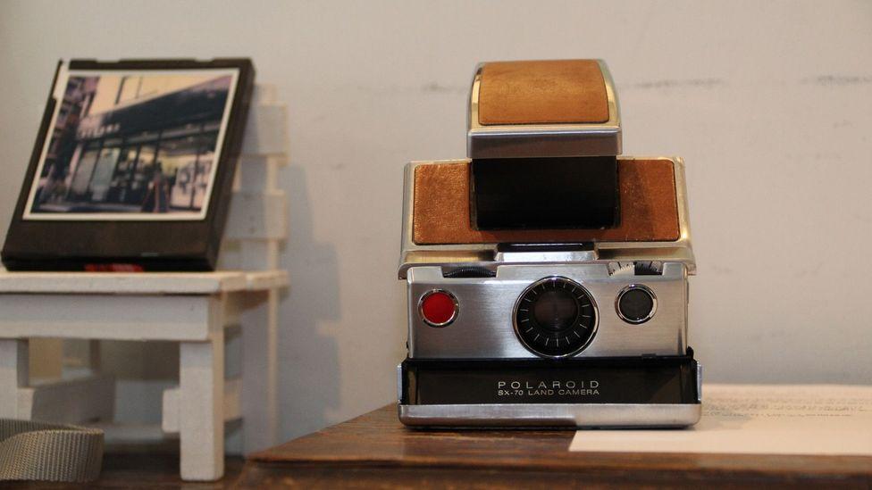 American Polaroid instantly develops film (credit Yuko Komura)
