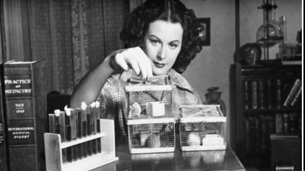 In addition to starring on the silver screen, Hedy Lamarr, a famous polymath, also co-developed a transmission method that has carried into today's technologies (Credit: Alamy)