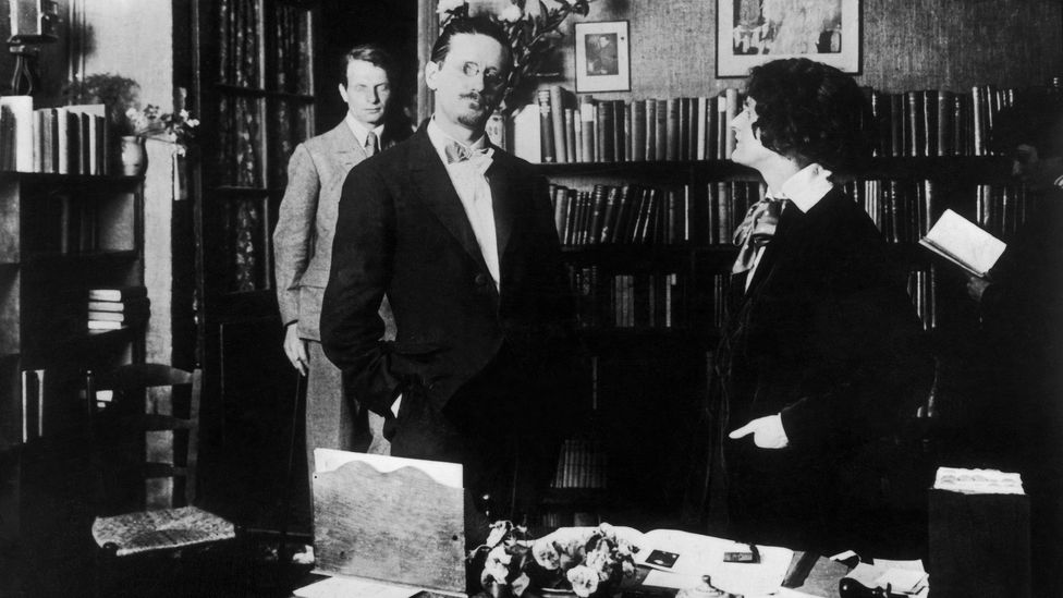 James Joyce with Shakespeare and Company's founder Sylvia Beach in the shop's interior (Credit: Getty Images)