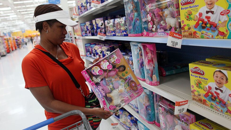 Children is the group many of us splurge the most on, according to one 2017 survey conducted among US shoppers (Credit: Getty Images)