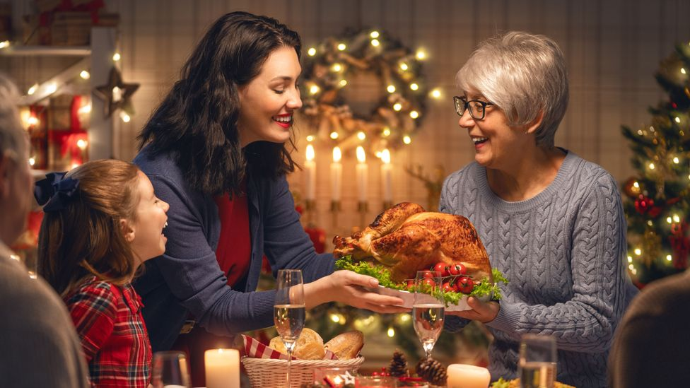 The atmosphere of the festive season can condition us to expect vast quantities of food (Credit: Getty Images)