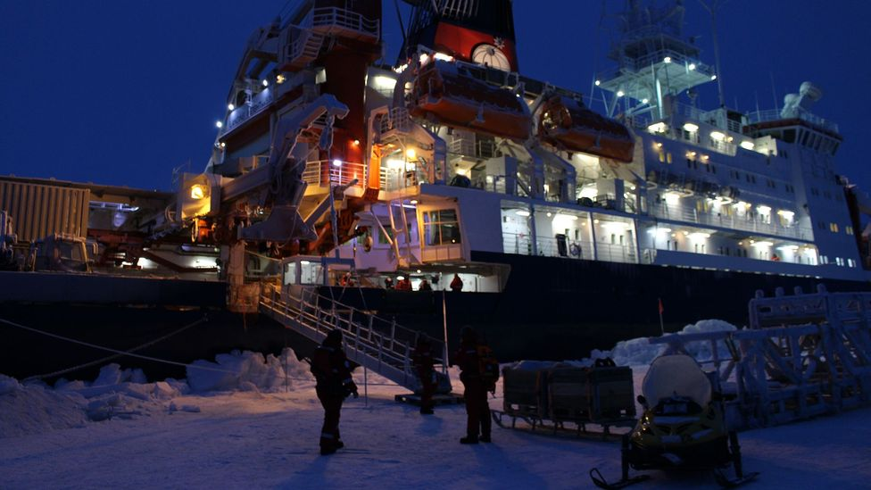 The Polarstern is a home away from home for the scientists studying the ice over the winter (Credit: Martha Henriques)