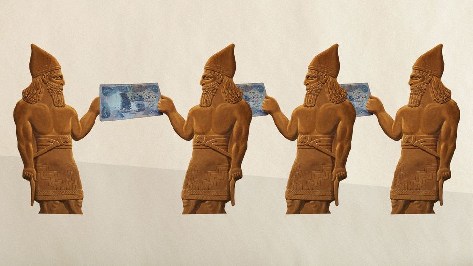 The ancient Babylonians were the first to come up with the concept of money (Credit: Javier Hirschfeld/Alamy)