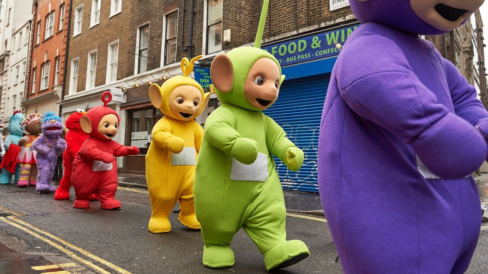 Children's TV characters often have large, simplified faces and use bright colours to enable infants' sluggish attention systems to keep up (Credit: Getty Images)
