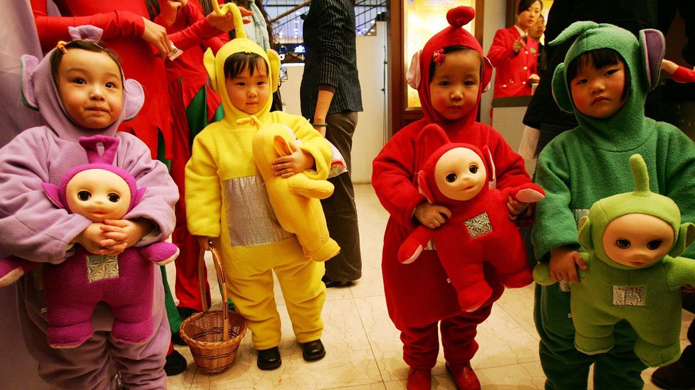 The Teletubbies obtained worldwide appeal perhaps because it was specifically designed for one and two year olds (Credit: Getty Images)