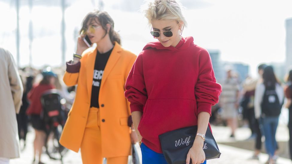 Activewear, streetwear and loose tailoring are more current looking than figure-hugging dresses (Credit: Getty Images)