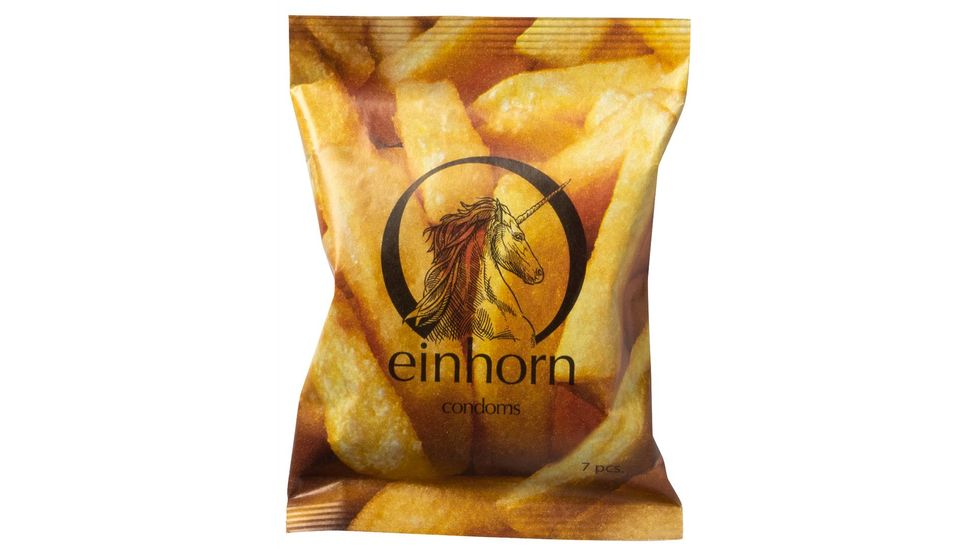 Einhorn replaced casein – a protein found in mammal's milk that is used to soften the latex in condoms – with a natural plant-based lubricant (Credit: www.einhorn.my)