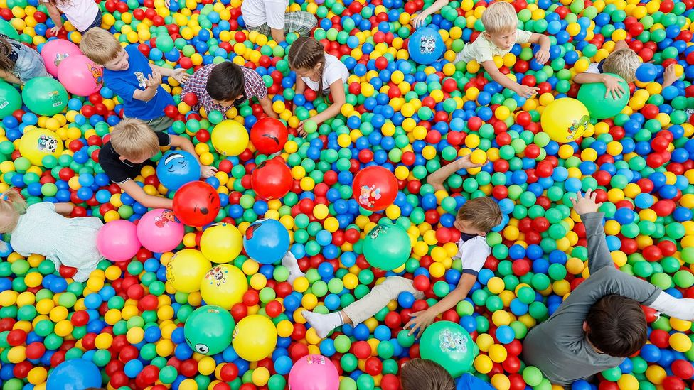 The ball pit, a childhood staple for many over the last 50 years, was inspired by a jar of pickled onions (Credit: Alamy)