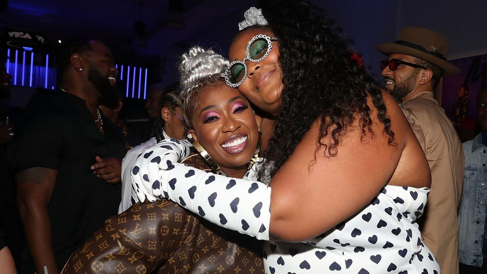 The artist with rap pioneer Missy Elliott, who Lizzo hails as a personal hero (Credit: Getty Images)