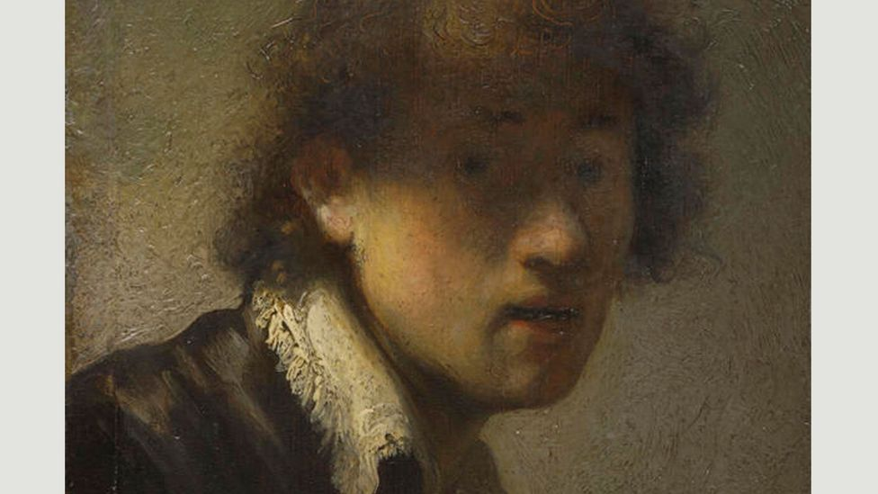 The Ashmolean exhibition begins with Rembrandt's earliest-known works made in his native Leiden in the mid-1620s, including this self-portrait from 1629