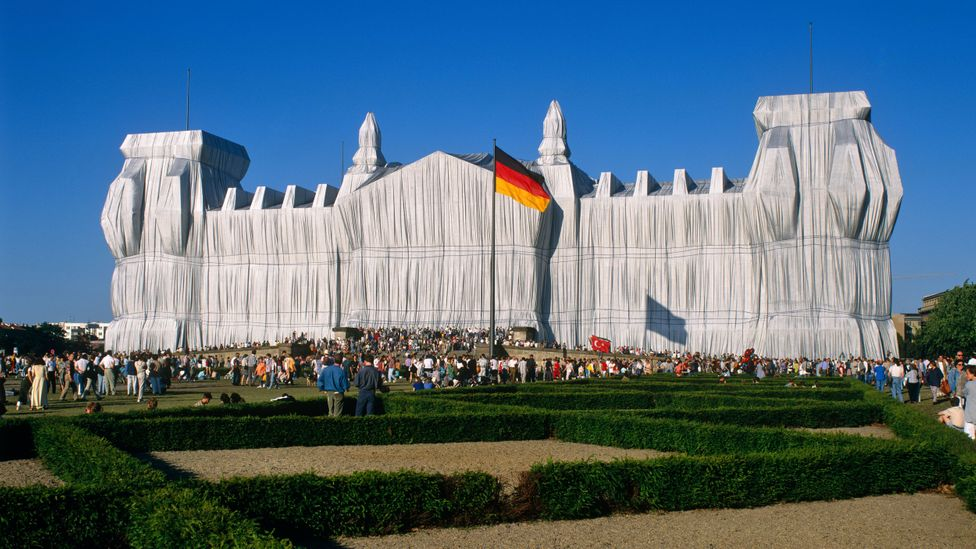 Wrapped Reichstag was a project Christo had begun imagining in 1971 with Jeanne Claude (Credit: Alamy)