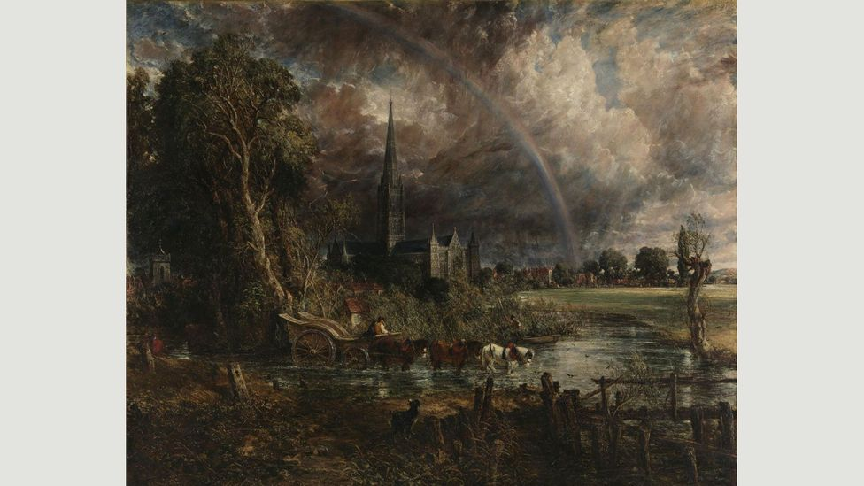 John Constable's Salisbury Cathedral from the Meadows was exhibited at the Royal Academy in 1831 but never found a buyer; it remained in his studio until his death in 1837