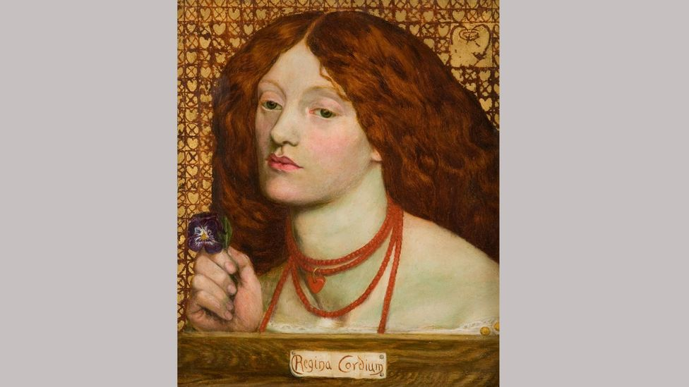 Regina Cordium (Queen of Hearts) was painted by Rossetti in 1860, with Lizzie, who was by then the artist's wife, as the model (Credit: Alamy)