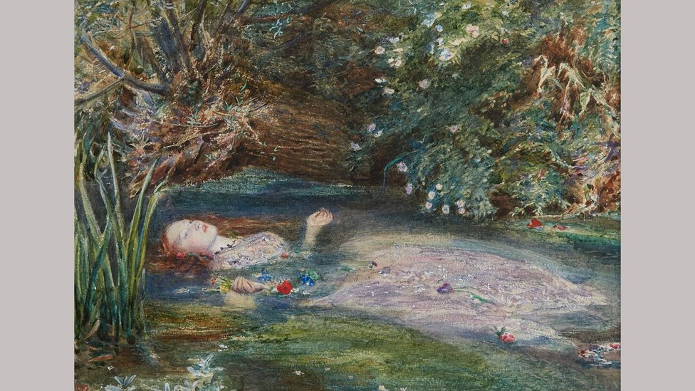 Ophelia by John Everett Millais (1851-2) is one of the Pre-Raphaelite movement's most famous paintings - the model was Siddal (Credit: Private collection)