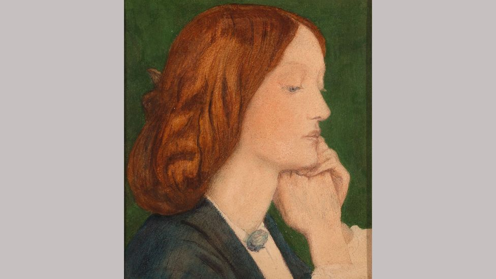 Elizabeth Siddal by Dante Gabriel Rossetti, 1852, is one of the paintings on display at an exhibition at London's National Portrait Gallery (Credit: Delaware Art Museum)