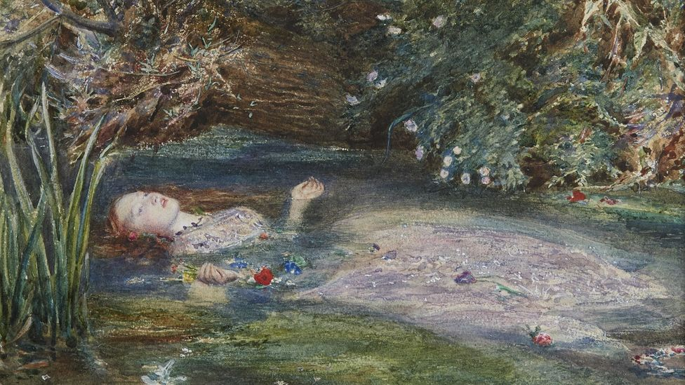 Ophelia by John Everett Millais (1851-2) is one of the Pre-Raphaelite movement's most famous paintings – the model was Siddal (Credit: Private collection)