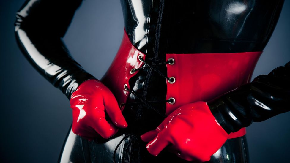 Latex still has a strong association with fetish wear (Credit: Alamy)
