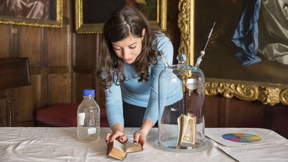 Heritage scent researcher Cecilia Bembibre is working to create an archive of endangered scents (Credit: H. Mahgoub)