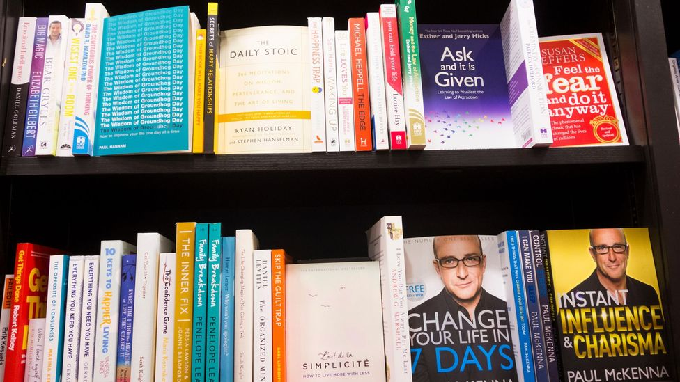 The ever-burgeoning shelves of self-help books include releases by psychologists, athletes and mystics – but now it's deep thinkers who are in vogue (Credit: Alamy)