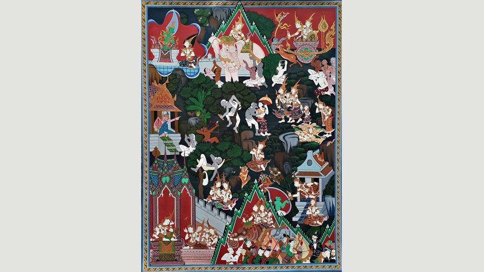 The Vessantara Jātaka tells the story of one of the Buddha's past lives (Credit: Irving Chan Johnson, Lim Su Qi and Rungnapa Kitiarsa, Singapore)