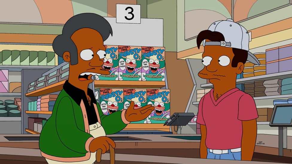 2017 documentary The Problem With Apu focussed on the Simpsons character Apu as a stereotypical portrayal of south Asians  – including his voice (Credit: Alamy)