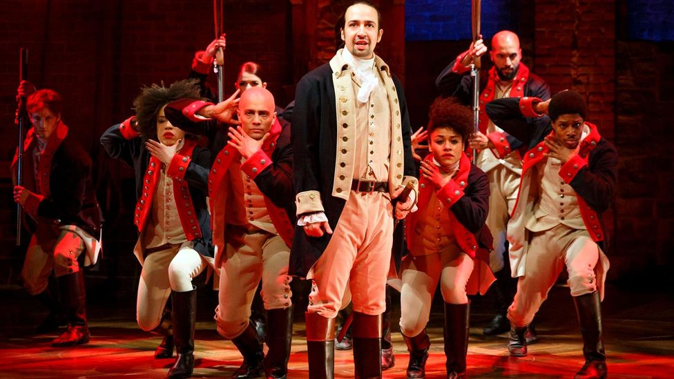 On stage, the mega-hit musical Hamilton has offered a dazzling example of how to reconfigure a historical narrative with racial diversity (Credit: Alamy)