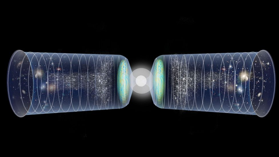 Rather than being a beginning, the Big Bang could have been a moment of transition from one period of space and time to another – more of a bounce (Credit: Alamy)