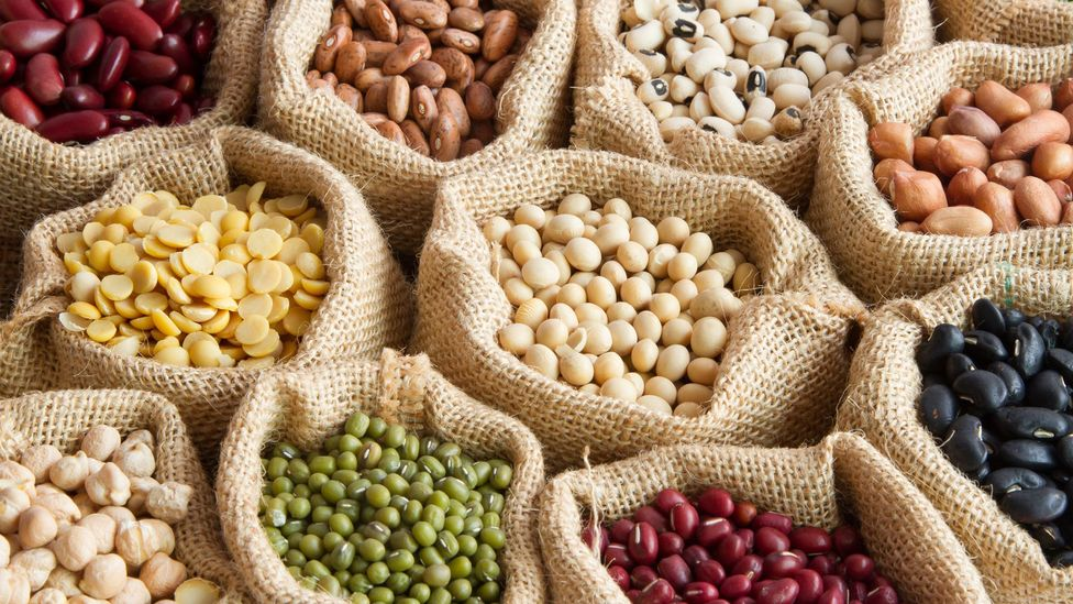 A dieta vegana é considerada uma das mais saudáveis porque inclui muitos legumes, bem como frutas e vegetais (Crédito: Getty Images)