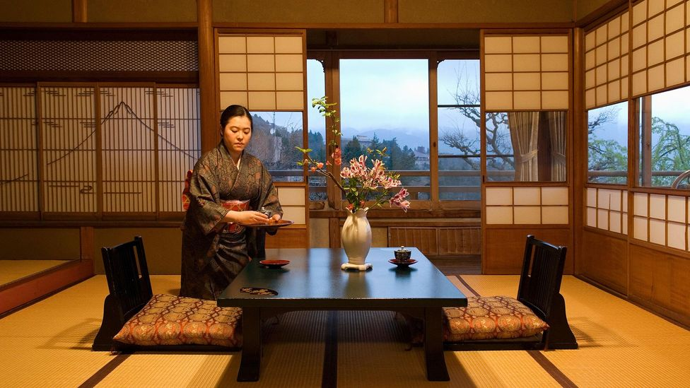 Ryokan are traditional Japanese inns known for their outstanding service, food and beauty. Some modern hotels in Japan say they still take cues from ryokan (Credit: Getty Images)