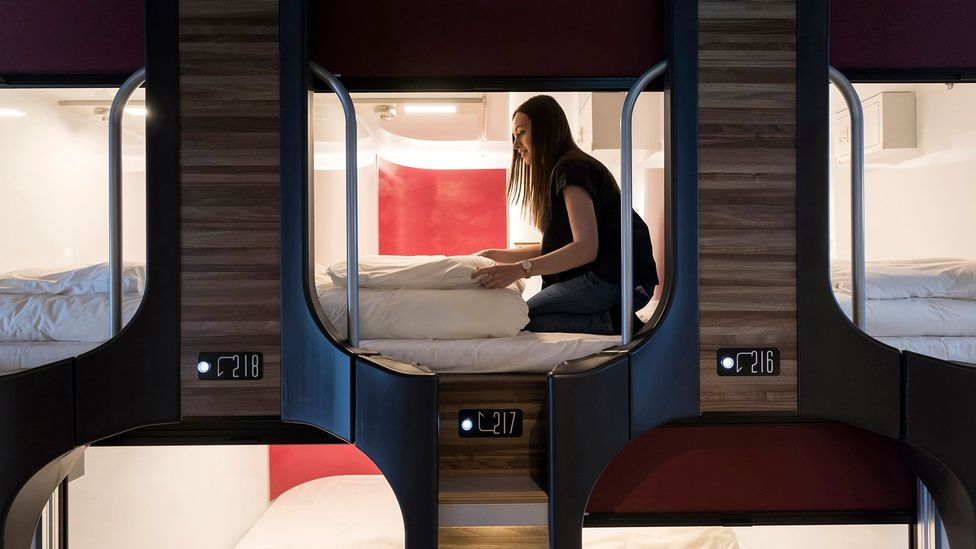 Today, many of the cheaper, themed hotels aimed at young people and budget travellers take heavy design influence from Japan's capsule hotels (Credit: Getty Images)