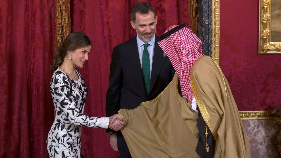People in Saudi Arabia keep the most distance between them and people they are shaking hands with (Credit: Getty Images)