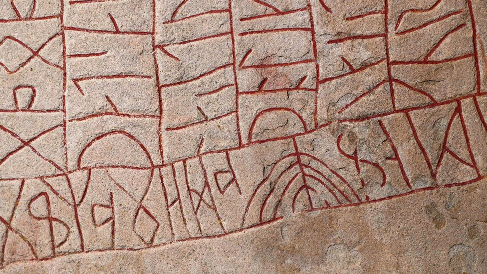 The shape of an alphabet – like the harsh downward scratches of a script like Runic – can tell us more about their culture than even a spoken language (Credit: Getty)