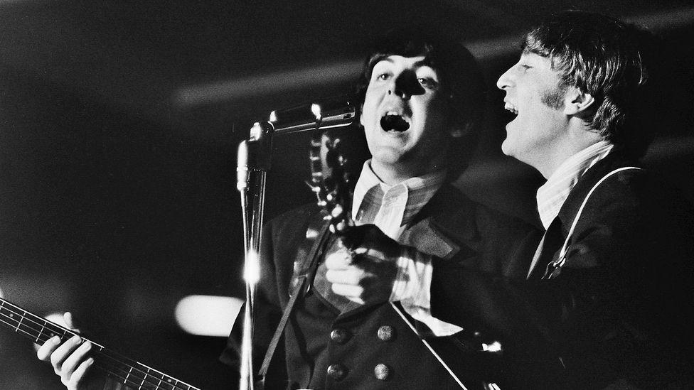 Paul McCartney and John Lennon from The Beatles