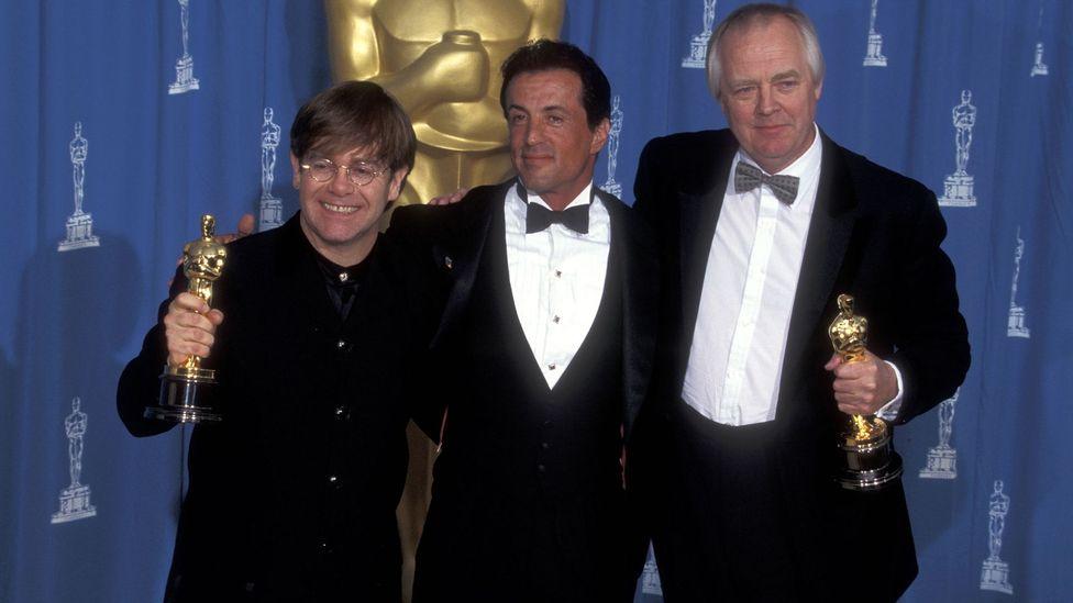 Elton John, Sylvester Stallone and Tim Rice