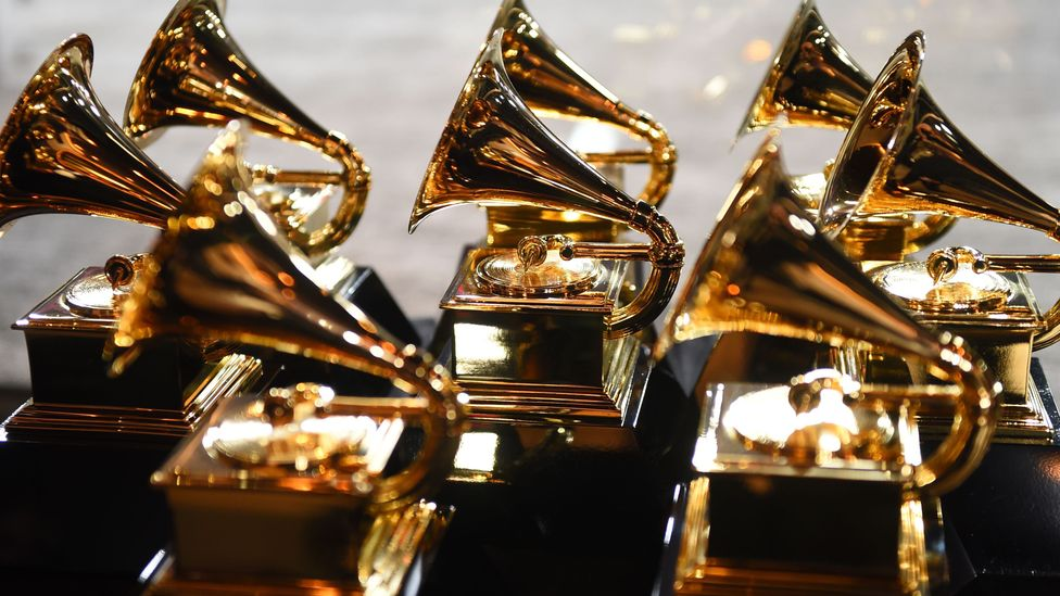 Grammy Awards trophies