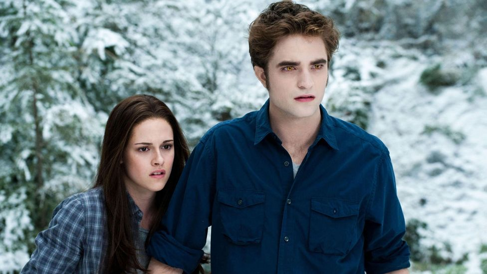As a sparkly-skinned vampire in the Twilight series, Pattinson was elevated to mega-stardom alongside his co-star and then-girlfriend Kristen Stewart (Credit: Alamy)